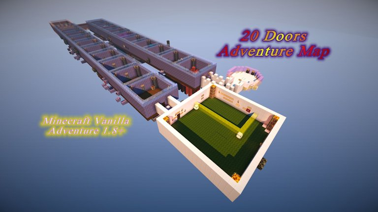 20 doors adventure map for Minecraft 1.8