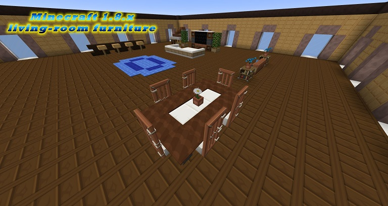 Minecraft modern livingroom furniture minecraft 1.8 vanilla