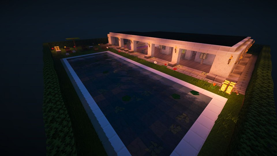 Minecraft modern living version 2.0 building for Minecraft 1.8