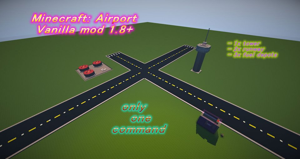 Minecraft airport building command Mineraft only one command