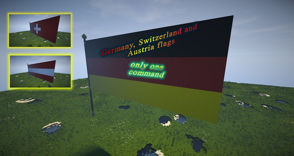 Minecraft germany flag switzerland flag austria flag only one command