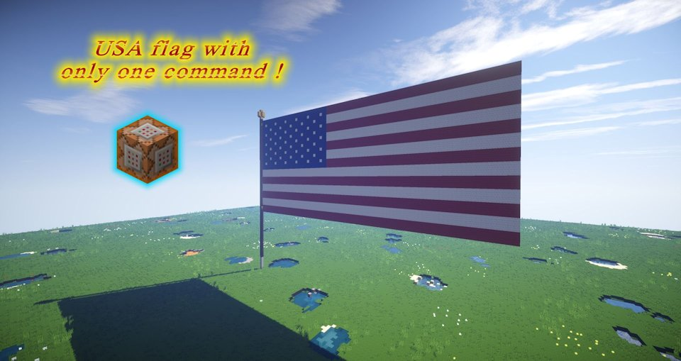 Minecraft usa flag only one command