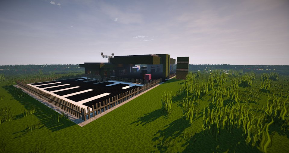 Minecraft gas station building only one command