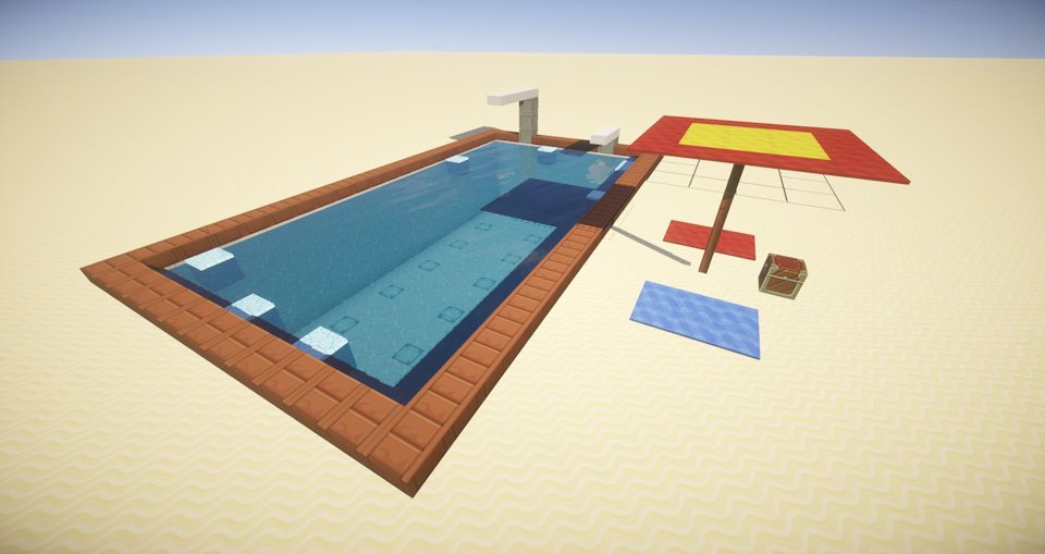 Minecraft pool building only one command