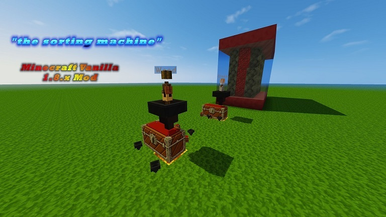 item sorting machine Minecraft 1.8.x